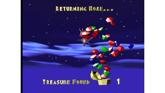 Ending a level: your treasure bonus