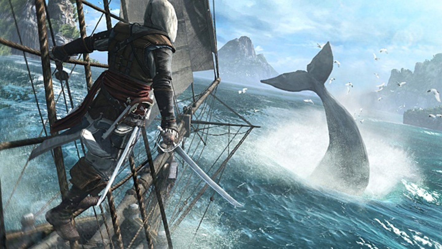 Assassin Creed 4: Black FlagNach dem Amerika-Ausflug in Assassin's Creed 3 geht es jetzt in die Karibik - zur Hochzeit der Piraten.