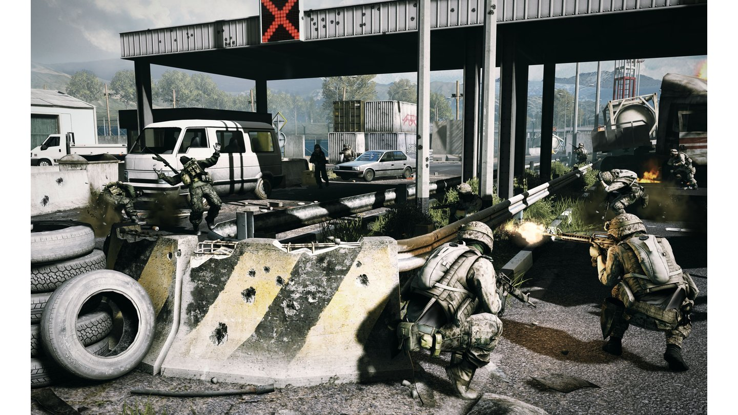 Battlefield 3 - Screenshot der Multiplayer-Karte Caspian Border