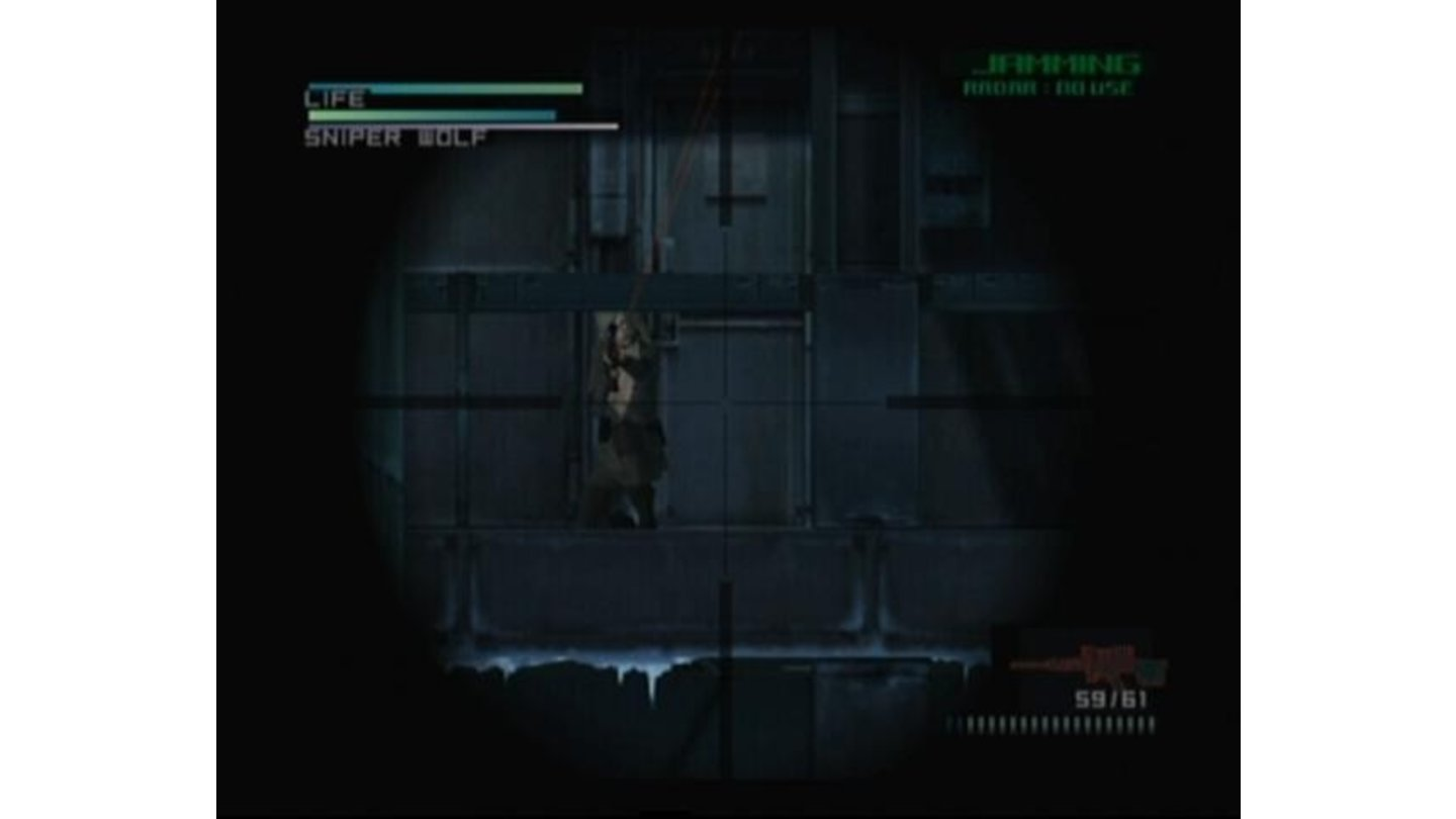 Using sniper is the only way to reach Sniper Wolf.