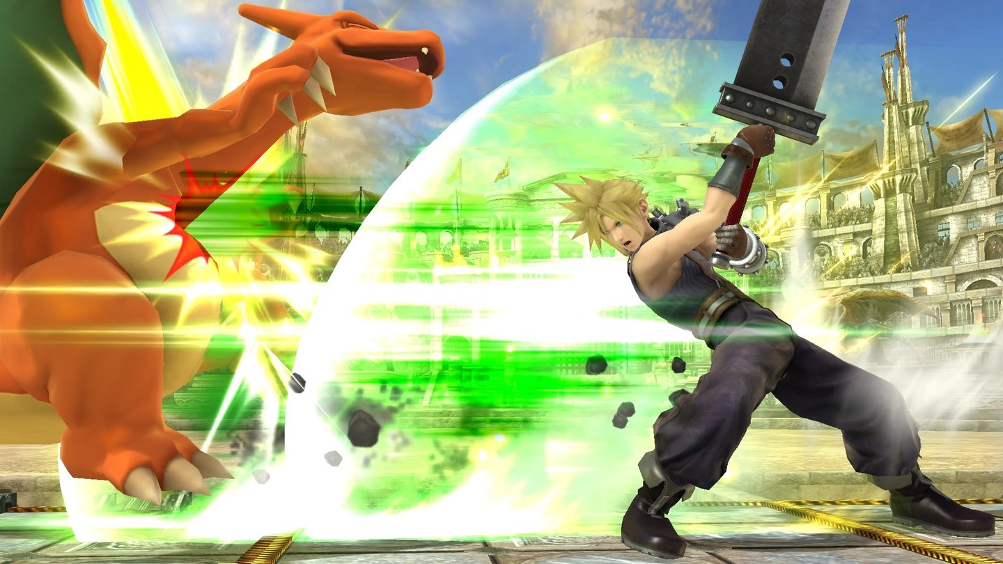 Super Smash Bros. mit Cloud Stife aus Final Fantasy 7