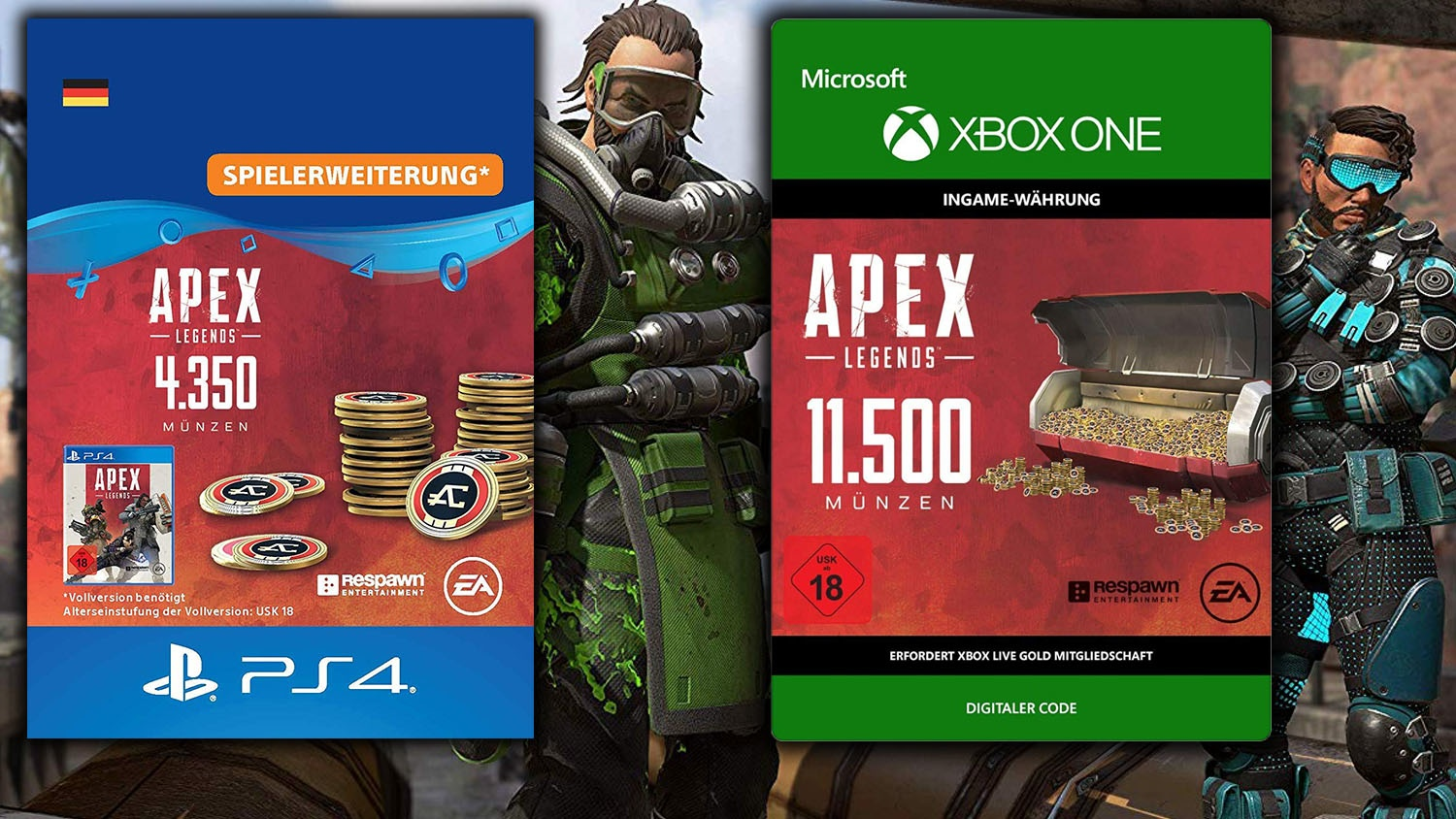 amazon angebot 25 prozent rabatt auf apex legends coins. Black Bedroom Furniture Sets. Home Design Ideas
